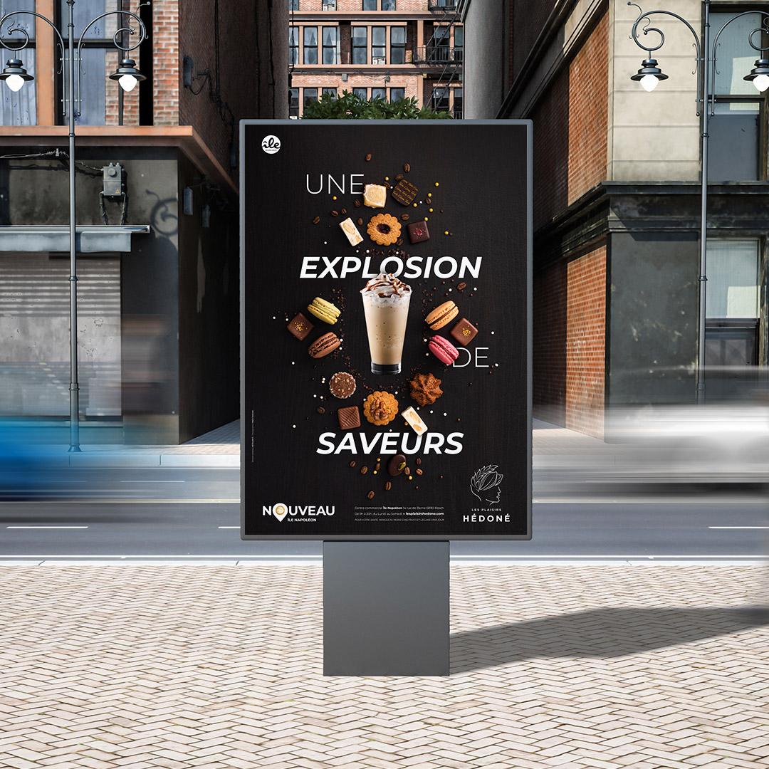 Les Plaisirs Hédoné - Affichage publicitaire