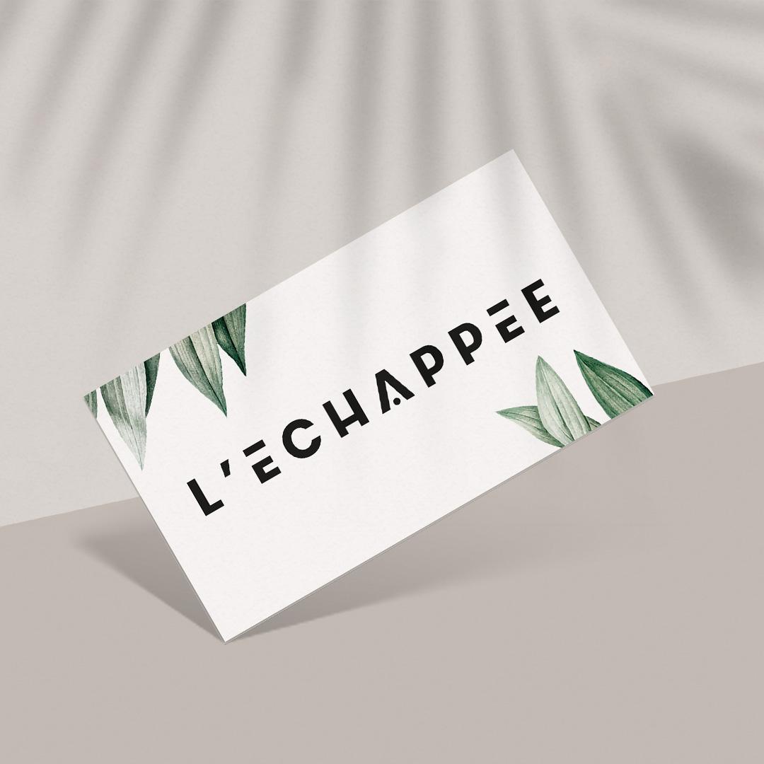 Business card Design for L'Echappee