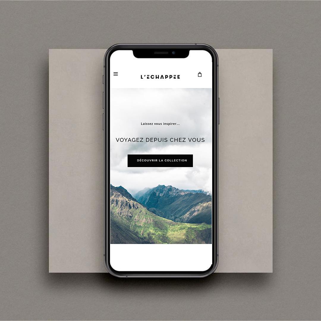 Website Design for L'Echappee