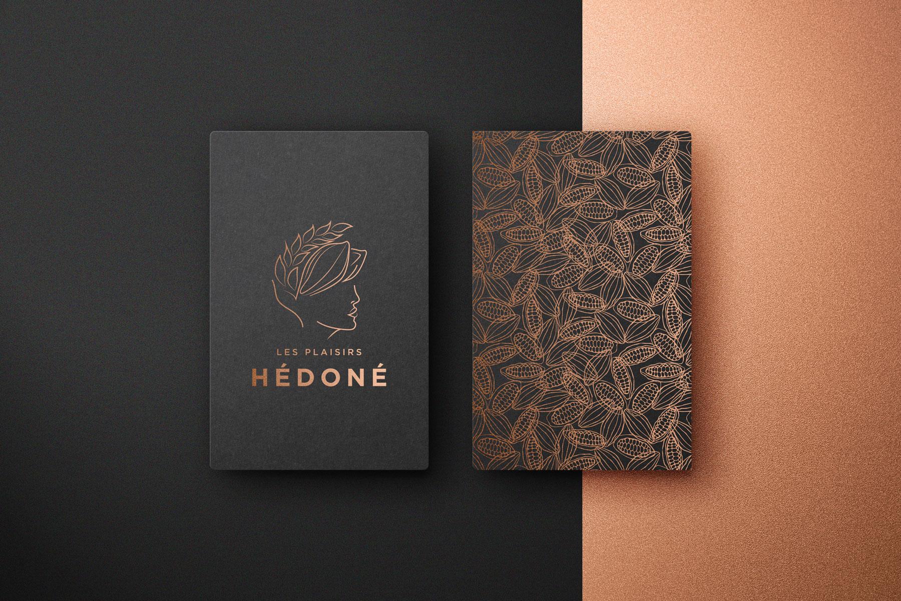 Logo et charte graphique pour le café Les Plaisirs Hédoné
