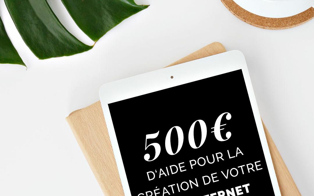 500€ d'aide aux commerçants pour se digitaliser