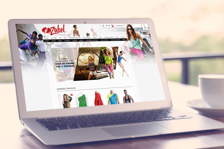 Ezabel Fitnesswear Webdesign site ecommerce