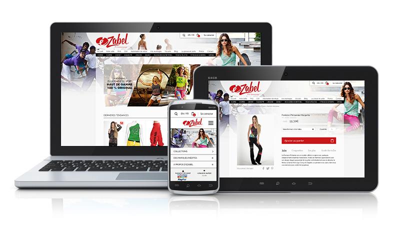 Site ecommerce Ezabel Fitnesswear