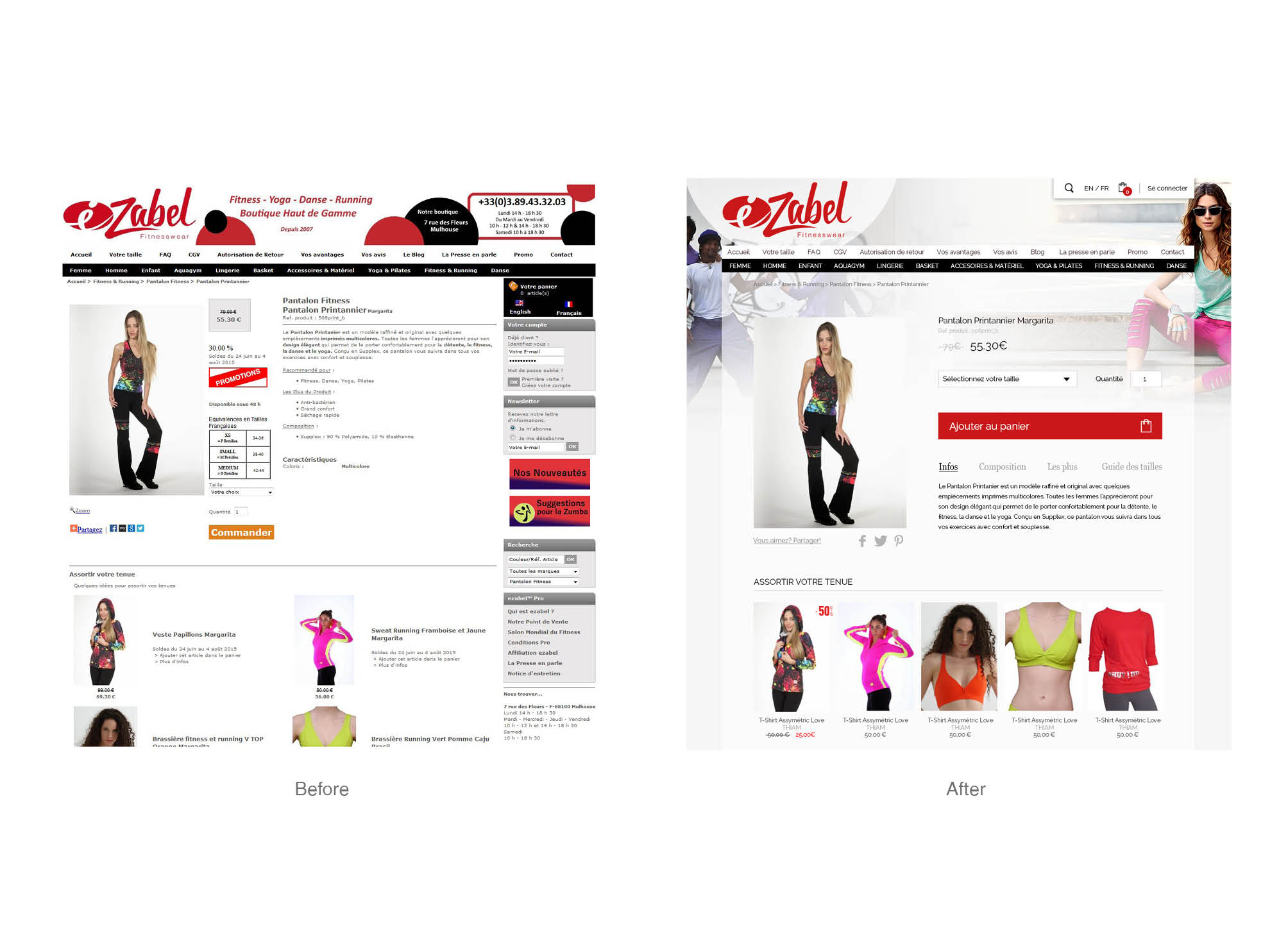 Ezabel Fitnesswear Logo Webdesign